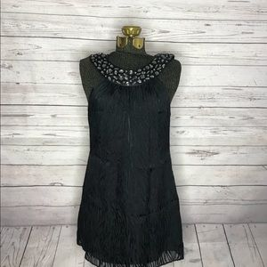 Guess Black Beaded Animal Print  Minidress E1-142